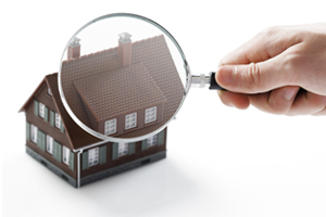 House under a magnifying glass